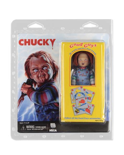neca retro style childs play chucky figure  packaging  toyark news