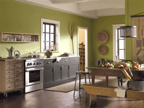 kitchen color schemes with painted cabinets green kitchen paint colors pictures ideas from hgtv hgtv 9201