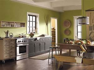 Green kitchen paint colors pictures ideas from hgtv hgtv for Kitchen colors with white cabinets with country canvas wall art