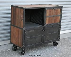 Bar Cart/Liquor Cabinet Vintage Industrial Urban/Modern