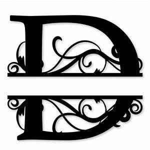Monogram letter die cut vinyl decal pv1320 for Letter decals