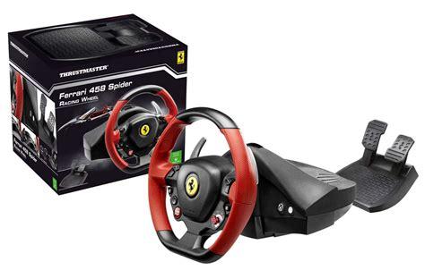 siege volant ps4 thrustmaster 458 spider racing wheel xbox one