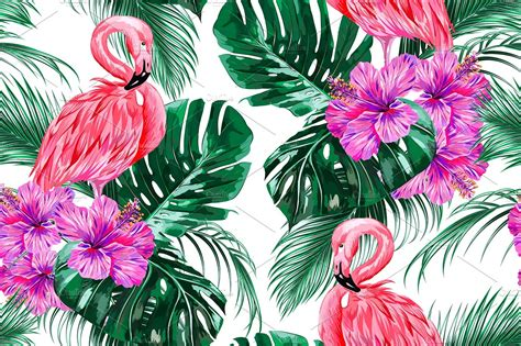 Ag Furniture by Pink Flamingos Tropical Pattern Patterns Creative Market