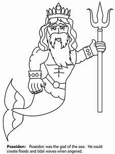 Desenhos do Poseidon para Colorir | Desenhos para colorir ...