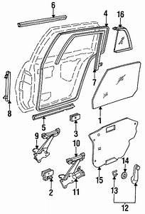Buick Skylark Window Regulator  Rear