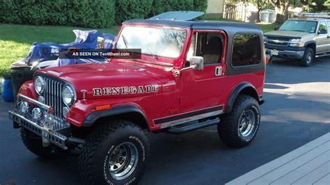 renegade jeep cj7 1980 jeep cj7 renegade chevy 350 conversion