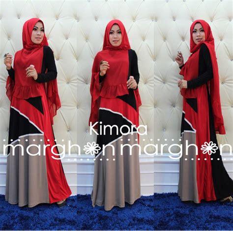 Krudung Merah kimora merah hicu baju muslim gamis modern