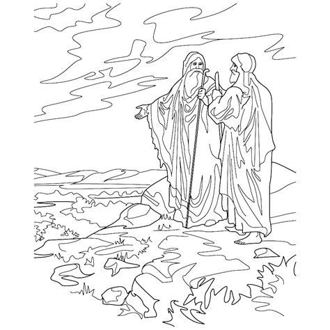 Kleurplaat Abraham Op Reis by Leuk Voor Abraham En Lot