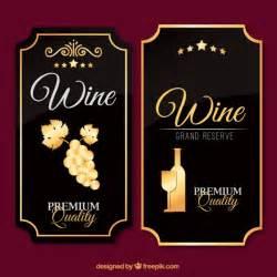 weinetiketten design luxury wine labels in vintage design vector free