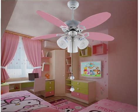2017 Wholesale Cute Pink Ceiling Fan Light Kids Room 051