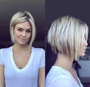 Coupe Cheveux Asymétrique : coiffures coupe cheveux asym trique coiffure ffil e cheveux blonds et un t shirt blanc ~ Melissatoandfro.com Idées de Décoration