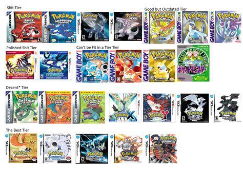 List Of Pokemon Games In Order Release