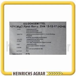 Npk Dünger Zusammensetzung : npk d nger blaukorn 12 12 17 2 8 mit bor u zink 25 kg 566556 heinrichs agrar ~ Frokenaadalensverden.com Haus und Dekorationen