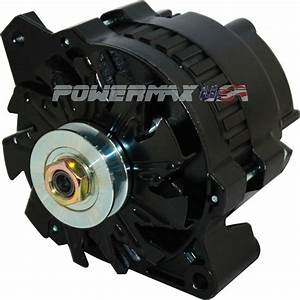 220 Amp New Black High Output Alternator Fits Chevy One