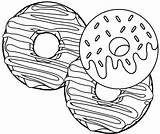 Coloring Donut Pages Delicious Yummy sketch template