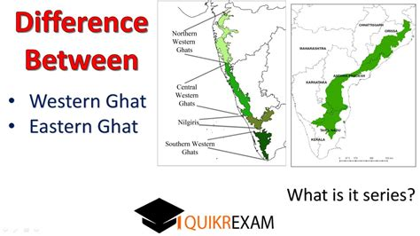 eastern and western ghats what is the difference between western ghat and eastern