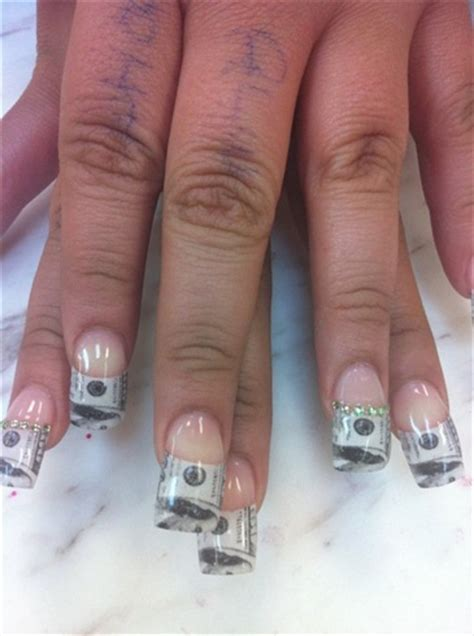 money french tips nail art gallery