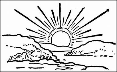 Sunrise Coloring Pages Sketch Template Designlooter Drawings