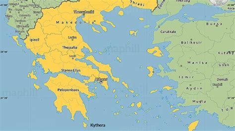 Map of Greece - Xenonas Fos ke Choros - a Greek island