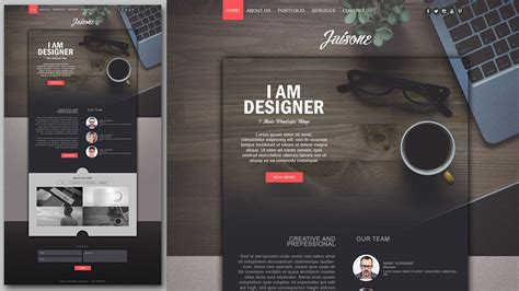 web designer tutorial photoshop website design tutorial stylish portfolio with