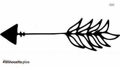 Arrow Silhouette Feather Clip Arts