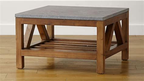 Bluestone Square Coffee Table   Crate and Barrel