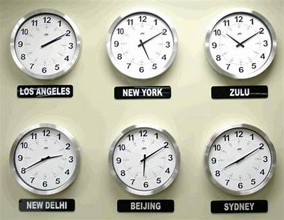 Zone Clocks Display International Analog Clock Zones