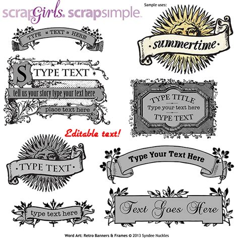 Click on the picture quick styles. ScrapSimple Word Art Templates: Retro Banners and Frames