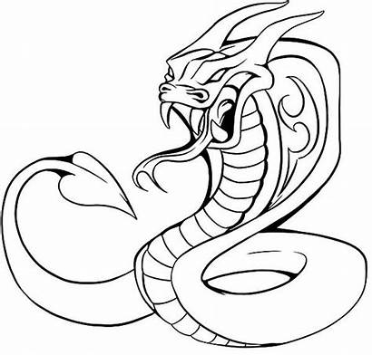 Cobra Snake Coloring Pages King Drawing Animals