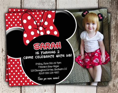 minnie mouse invitation templates ai psd word