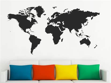 Für Die Wand by Wandtattoo Welt Als Karte Wandtattoo