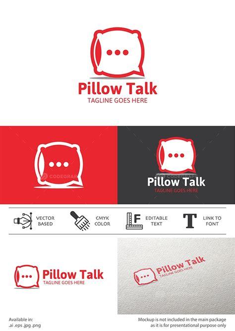pillow talk chat logo print codegrape