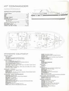 1972 47 U0026 39  Chris Craft Commander Specs And Floorplan