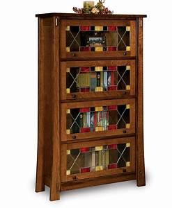 Modesto Barrister Bookcase Amish Direct Furniture