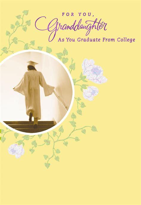 loved granddaughter college graduation card