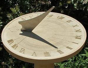 Haddonstone Roman Sundial, Stone Garden Ornament
