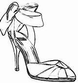 Coloring Heel Heels Shoes Joost Origami Langeveld Shoe Bing Joostlangeveldorigami Nl Bow sketch template