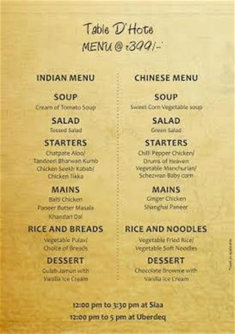 indian cuisine starters table d 39 hote lunch menu picture of siaa hyderabad