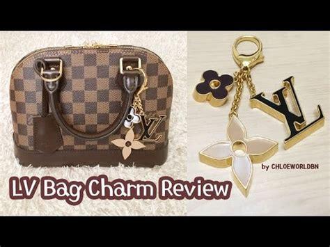 louis vuitton bag charm reviewfleur de monogram bag charmm youtube