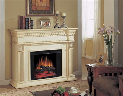 Coolidge New Antique White Electric Fireplace 28 Inch