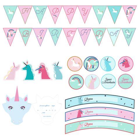 deco anniversaire licorne printable anniversaire licorne kit deco 224 imprimer achat vente