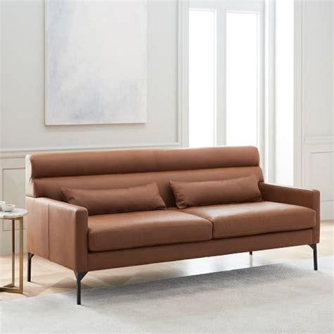 west elm leather paramount leather sofa 74 quot west elm