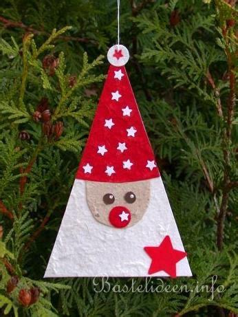 weihnachtsbasteln mit kindern vorlagen kinderbasteln zu weihnachten baumanhaenger quot nikolaus quot