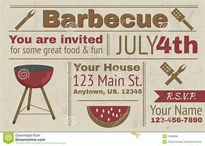 17 summer bbq invitation word template images free With barbecue invite template