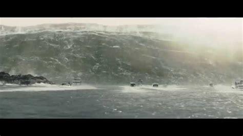 Fast Boat In San Francisco by San Andreas Movie Scene Tsunami Floods San Francisco