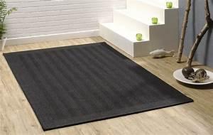 tapis d39entree noir en sisal garvin With tapis en bambou pas cher