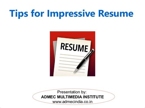 tips for impressive resume