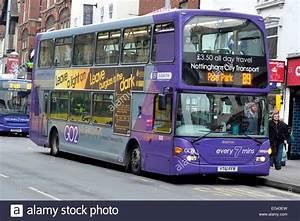 Nottingham city transport purple line scania double decker ...