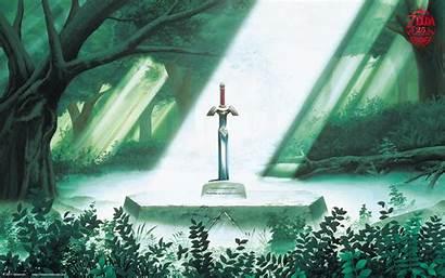 Zelda Legend Anniversary 25th Wallpapers Fanpop Sword