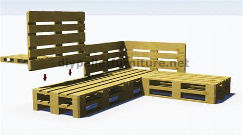 canapé fait avec des palettes et plans 3d de la façon de faire un canapé
